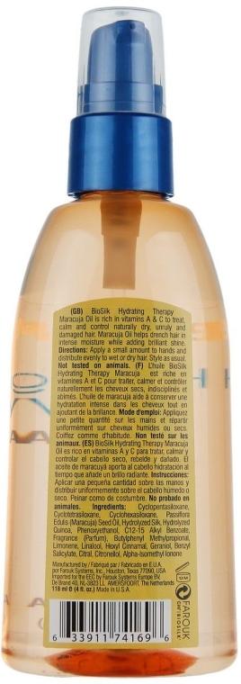 Głęboko nawilżający olejek do włosów - BioSilk Hydrating Therapy Maracuja Oil — фото N3