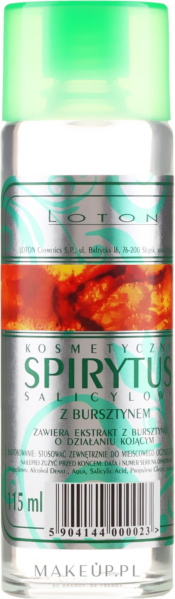 Spirytus salicylowy - Loton Spirytus Salicylic Cosmetic With Amber — фото 115 ml
