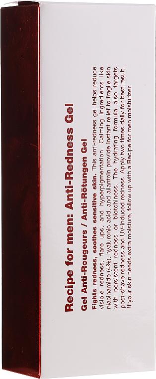 Nawilżająco-łagodzący żel do twarzy dla mężczyzn - Recipe For Men Anti-Redness Gel — фото N2
