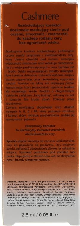 Korektor rozświetlający - DAX Cashmere Corrector — фото N2