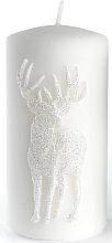 Kup Świeca dekoracyjna, biała 7 x 14 cm - Artman Jelen Application (Deep Application)