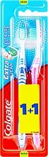 Kup Szczoteczka do zębów Extra Clean, średnia twardość, granatowa + różowa - Colgate Extra Clean Medium
