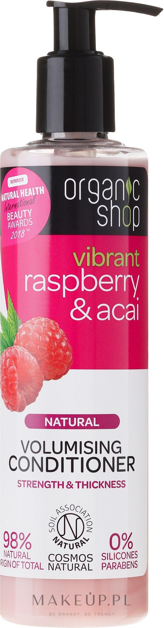 Naturalna odżywka dodająca włosom objętości Malina i acai - Organic Shop Raspberry And Acai Conditioner — фото 280 ml