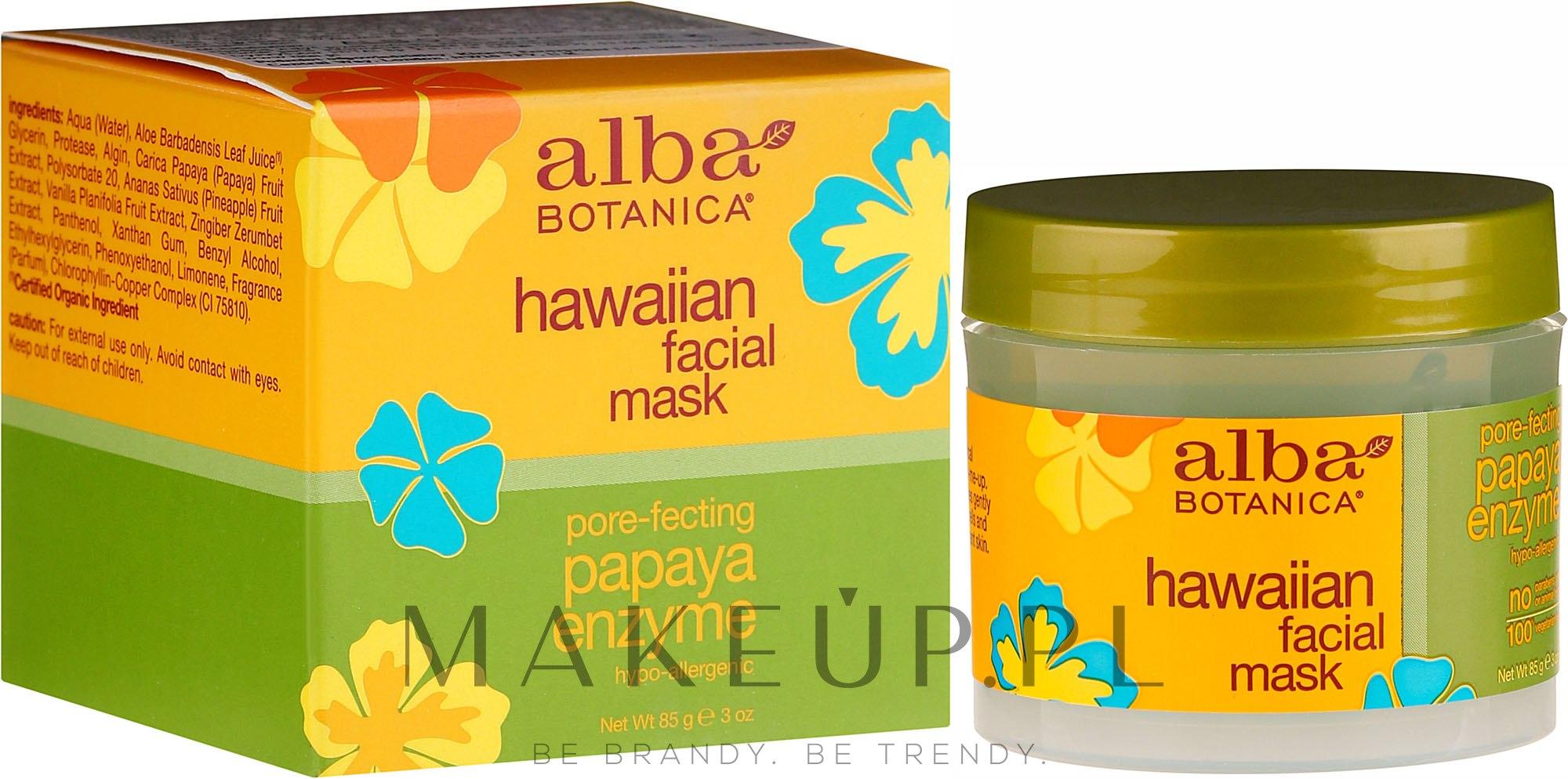 Maska do twarzy Papaja - Alba Botanica Natural Hawaiian Facial Scrub Pore Purifying Pineapple Enzyme — фото 85 ml