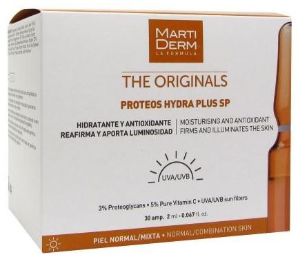 Ampułki nawilżające i wygładzające zmarszczki do twarzy - MartiDerm The Originals Proteos Hydra Plus SP — фото N1
