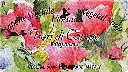 Kup Mydło naturalne w kostce Polne kwiaty - Florinda Sapone Vegetale Vegetal Soap Wild Flowers