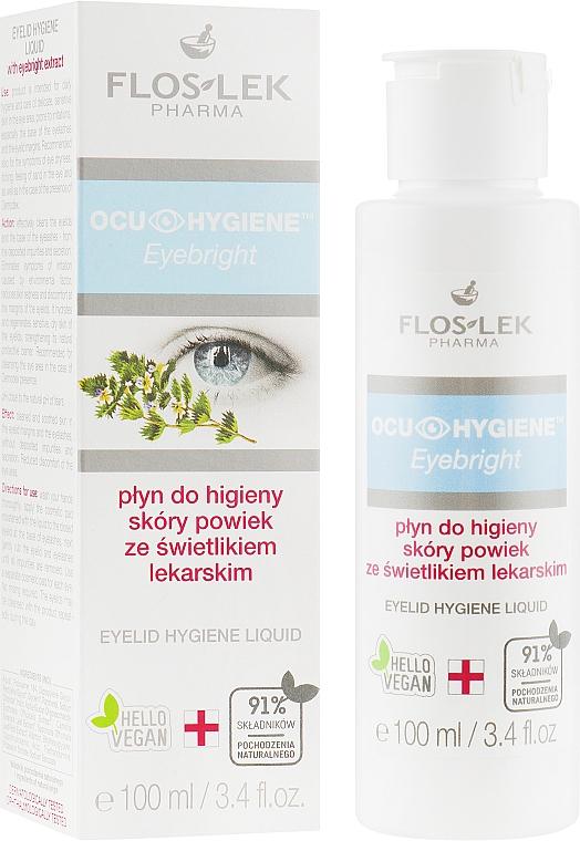 Płyn do higieny skóry powiek ze świetlikiem lekarskim - Floslek Eyebright Eyelid Hygiene Liquid