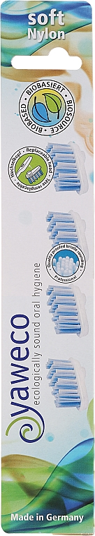Wymienne miękkie główki do szczoteczki do zębów - Yaweco Toothbrush Heads Nylon Soft — фото N2