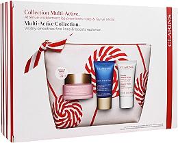 Kup Zestaw - Clarins Multi-Active Christmas Set (day/cream/50ml + night/cream/15ml+balm/15ml+bag)