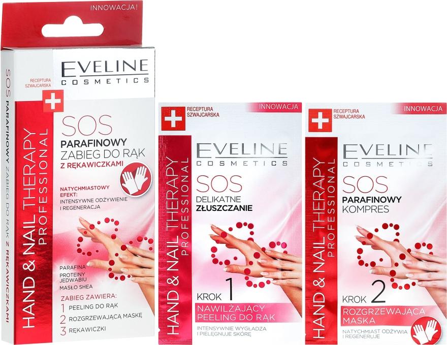 Parafinowy zabieg do rąk z rękawiczkami - Eveline Cosmetics Hand Nail Therapy Professional SOS