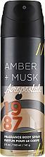Kup Spray do ciała dla mężczyzn - Aeropostale Amber + Musk Fragrance Body Spray