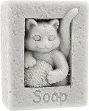 Kup Naturalne mydło ręcznie robione o zapachu ananasowym Kot z kłębkiem wełny - LaQ Happy Soaps