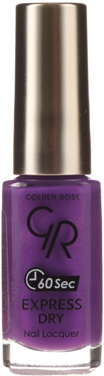 Szybkoschnący lakier do paznokci - Golden Rose Express Dry 60 Sec