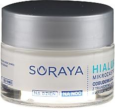 Odbudowujący krem z transdermalnym kwasem hialuronowym na dzień/noc 60+ - Soraya Hialuronowy Mikrozastrzyk Cream — фото N2
