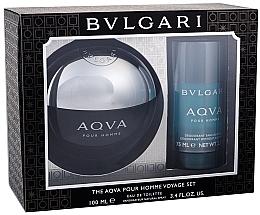 Bvlgari Aqva Pour Homme - Zestaw (edt 100 ml + deo 75 ml) — фото N1