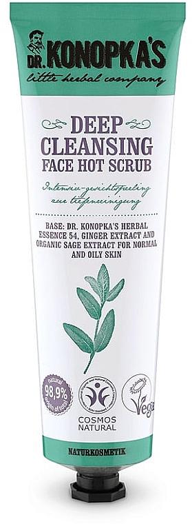 Peeling do głębokiego oczyszczania twarzy - Dr. Konopka's Face Hot Deep Cleansing Scrub
