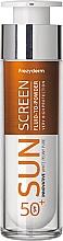 Kup Przeciwsłoneczny fluid matujący do twarzy - Frezyderm Sun Screen Vitamin D Like Skin Benefits Fluid to Powder SPF50+