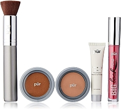 Kup Zestaw - Pur Minerals Best Sellers Starter Kit Blush Medium (primer/10ml+found/4.3g+bronzer/3.4g+mascara/5g+brush)