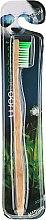 Kup Bambusowa szczoteczka do zębów, średnia twardość, zielona - Woobamboo Adult Standard Handle Toothbrush Medium