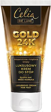 Luksusowy krem do stóp Złoto 24k i miód manuka - Celia De Luxe Gold 24K Luxurious Foot Cream