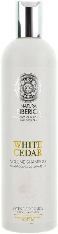 Szampon dodający włosom objętości Biały cedr Biała Syberia - Natura Siberica Sibérie Blanche White Cedar