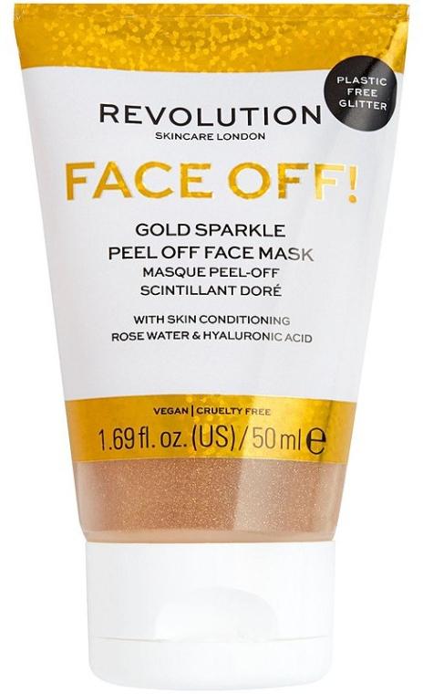 Maseczka peelingująca do twarzy - Revolution Skincare Face Off! Gold Glitter Face Off Mask — фото N1