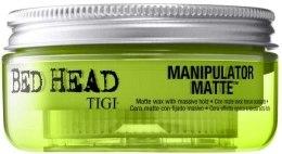 Kup Intensywnie utrwalający matujący wosk do włosów - Tigi Bed Head Manipulator Matte Wax With Massive Hold