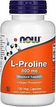 Kup L-prolina w kapsułkach na zdrowe stawy - Now Foods L-proline