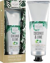 Kup Krem do rąk i paznokci - Scottish Fine Soaps Coconut & Lime Hand & Nail Cream
