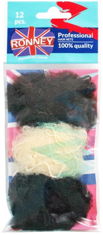 Siatki do włosów - Ronney Professional 3222/MIX/12 — фото N1