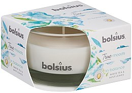 Kup Świeca zapachowa w szkle Biała herbata i liście mięty, 50/80 mm - Bolsius True Moods Candle