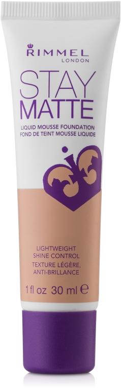 Podkład matujący do twarzy - Rimmel Stay Matte Liquid Mousse Foundation