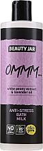 Kup Mleczna pianka do kąpieli z ekstraktem z białej piwonii i olejkiem lawendowym - Beauty Jar Anti-Stresse Bath Milk
