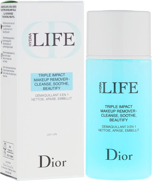 Płyn 3 w 1 do demakijażu - Dior Hydra Life Triple Impact Makeup Remover — фото N1