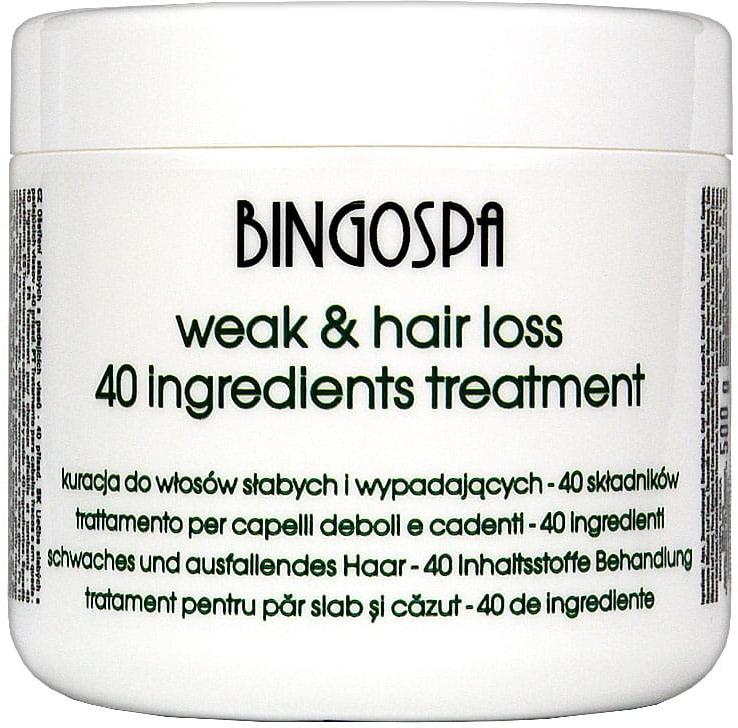 Kuracja do włosów słabych i wypadających oraz po farbowaniu - BingoSpa Hair Treatment