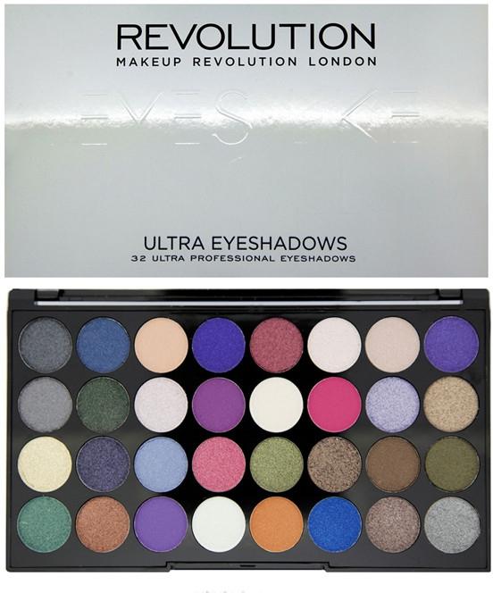 Paleta cieni do powiek (32 odcienie) - Makeup Revolution Ultra 32 Shade Palette Eyes Like Angels — фото N1