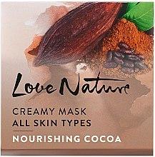 Kup Kremowa maska do twarzy Odżywcze kakao - Oriflame Love Nature Creamy Mask