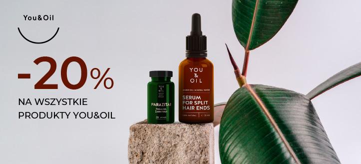 Zniżka 20% na wszystkie produkty You&Oil. Сeny uwzględniają zniżkę.