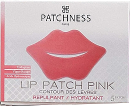 Kup Kolagenowa maseczka na usta z ekstraktem z czerwonych winogron - Patchness Lip Patch Pink