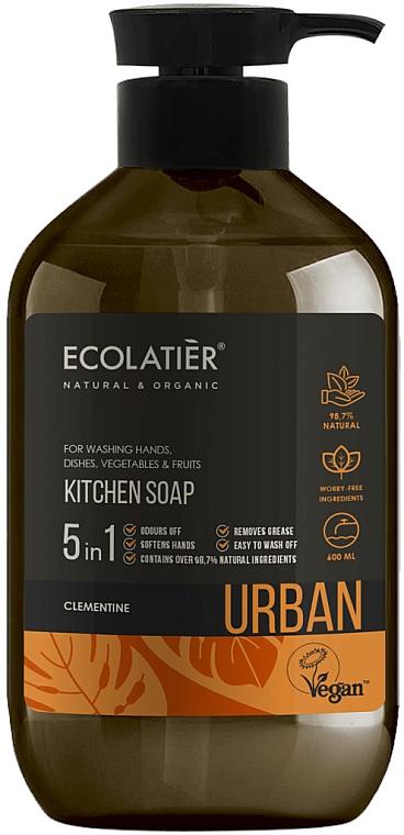 Kuchenne mydło w płynie Klementynka - Ecolatier Urban Liquid Soap — фото N1