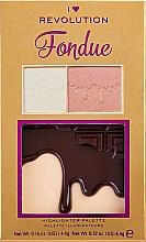 Kup Paletka rozświetlaczy do twarzy - I Heart Makeup Revolution Chocolate Fondue Mini Highlighter Palette