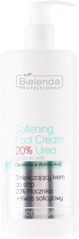 Zmiękczający krem do stóp 20% mocznika + kwas salicylowy - Bielenda Professional Podo Expert Program Softening Foot Cream 20% Urea