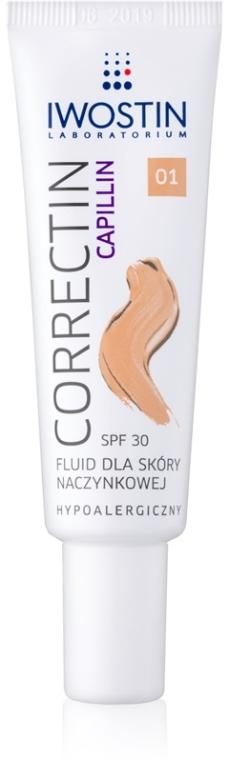 Hipoalergiczny fluid do skóry naczynkowej - Iwostin Capillin Correctin Fluid SPF 30 — фото N1