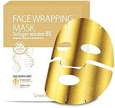 Kup PRZECENA! Złota maska kolagenowa w płachcie - Berrisom Face Wrapping Mask Collagen Solution *