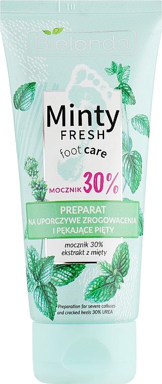 Krem do stóp przeciw zrogowaceniom i pękającym piętom - Bielenda Minty Fresh Foot Care Preparation For Severe Calluses And Cracked Heels