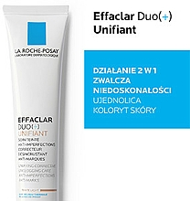 Tonujący krem zwalczający niedoskonałości - La Roche-Posay Effaclar Duo + Unifiant — фото N5
