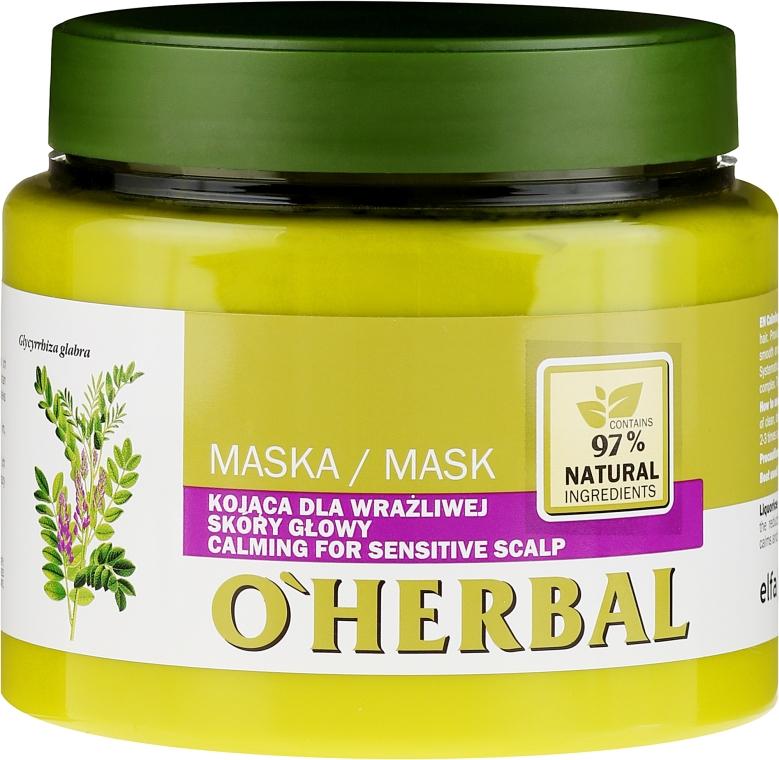 Kojąca maska do wrażliwej skóry głowy z ekstraktem z lukrecji - O'Herbal