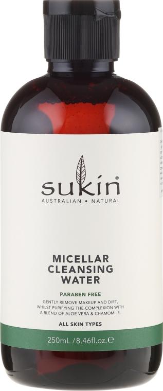 Oczyszczająca woda micelarna do makijażu twarzy - Sukin Micellar Cleasing Water — фото N1