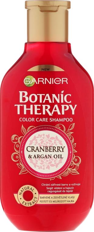 Szampon do włosów farbowanych i z pasemkami Żurawina i olej arganowy - Garnier Botanic Therapy