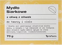Kup Mydło siarkowe z oliwą z oliwek do twarzy i ciała - Vis Plantis
